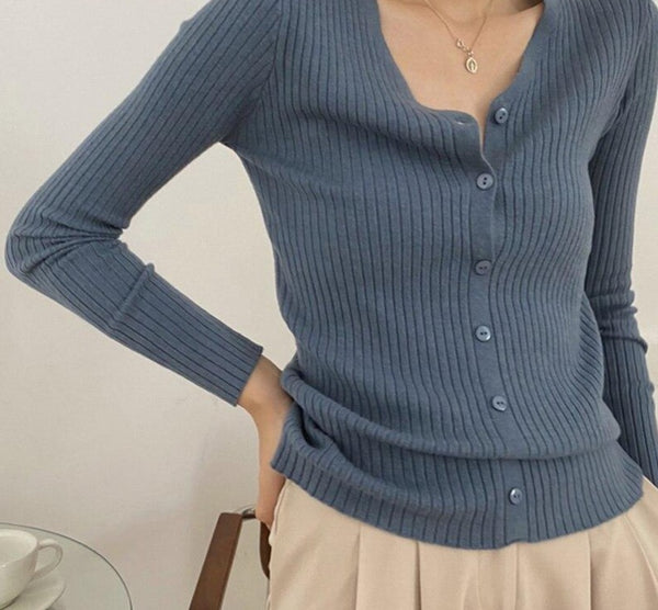 BGTEEVER Casual Basic V-neck Women Solid Open Stitch Sweaters 2020 Autumn Single-breasted Skinny Female Knitted Cardigans Tops