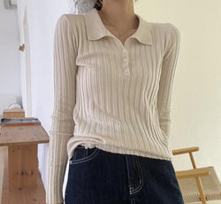 BGTEEVER Autumn New Stylish Women Solid Knitted Jumper Ladies Lapel Single-breasted Slim Sweater Tops 2020 Female Basic Knitwear