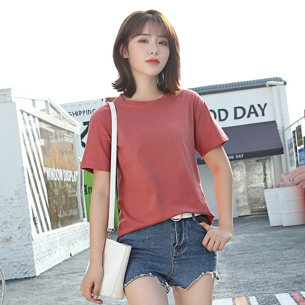 Women tshirt Cotton Casual t shirt For Lady Girl Top Tee Short Sleeve O-neck Tops femme Drop Ship 2019 Spring Summer