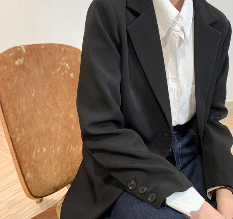 BGTEEVER Office Ladies Women Long Sleeve Suit Jackets 2020 Autumn New Slim Pockets Female Blazer Ladies Outwear Tops