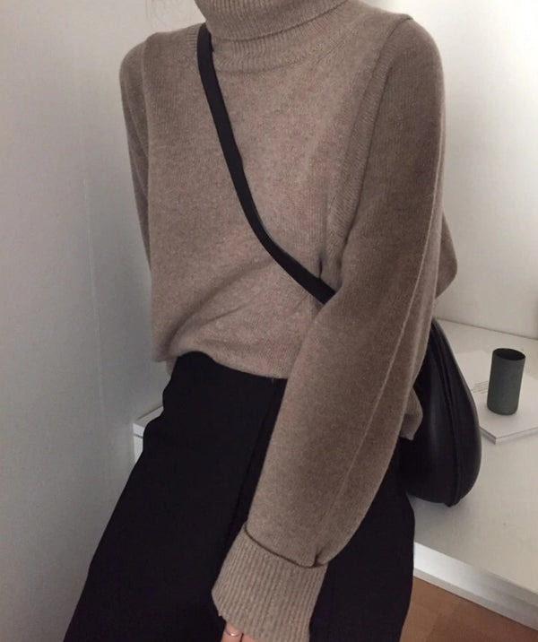 Half Turtleneck Sweater