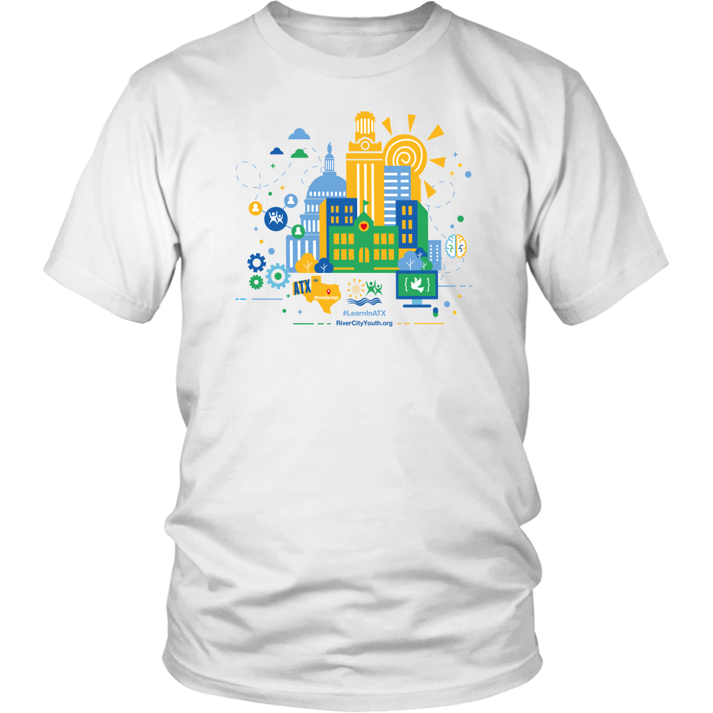 #LearnInATX White T-Shirt