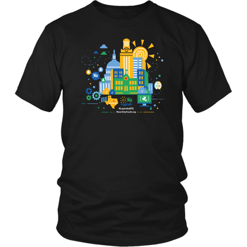 #LearnInATX Black T-shirt