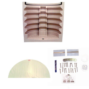 "81"" Rhino Egress Window Well - Sandstone w/ Clear Cover and Installation Kit"