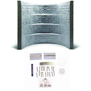 "64.5"" Stonewell Window Well - Granite w/ Installation Kit"