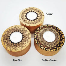 Load image into Gallery viewer, BEECH MANDALA TEALIGHT HOLDERS - Rebecca Leah Designs