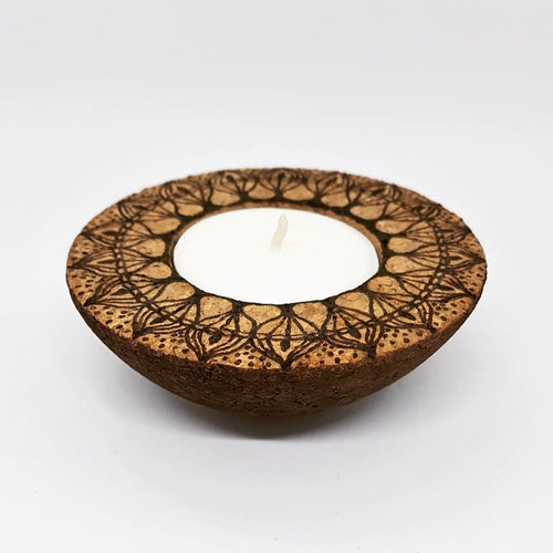 CORKFUL TEALIGHT HOLDERS - rebeccaldesigns