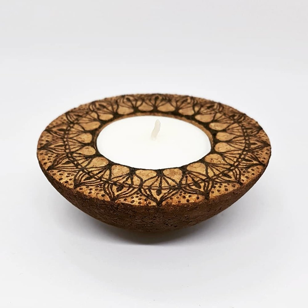CORKFUL TEALIGHT HOLDERS - Rebecca Leah Designs