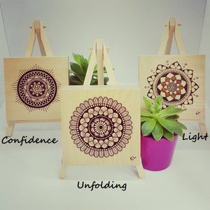MINI MANDALA ART BLOCKS - Rebecca Leah Designs