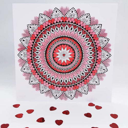 FROM THE HEART MANDALA CARDS - rebeccaldesigns