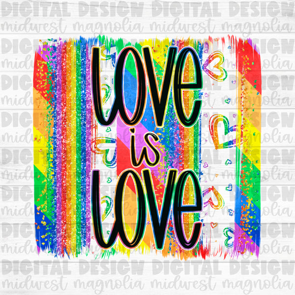Love is Love Pride Brushstroke - Digital