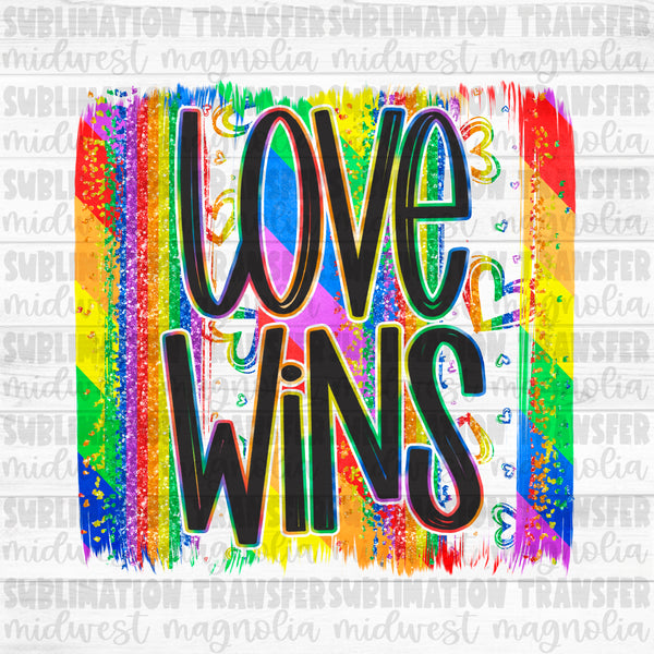 Love Wins Pride Brushstroke - Digital