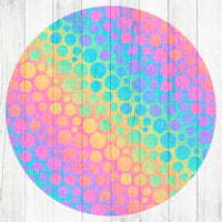 Pastel Dot Pattern - Car Coaster