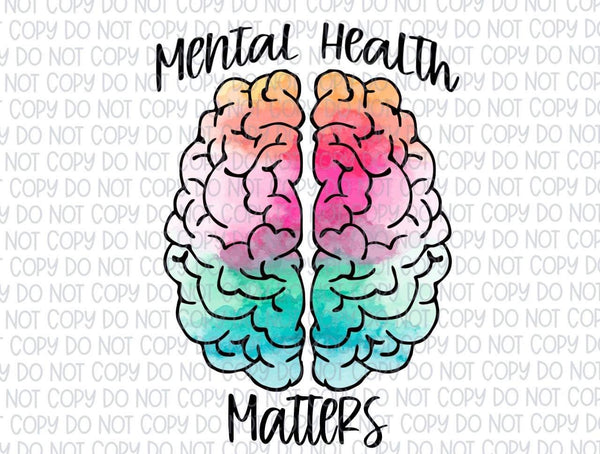 Mental Health Matters - Vinyl Sticker