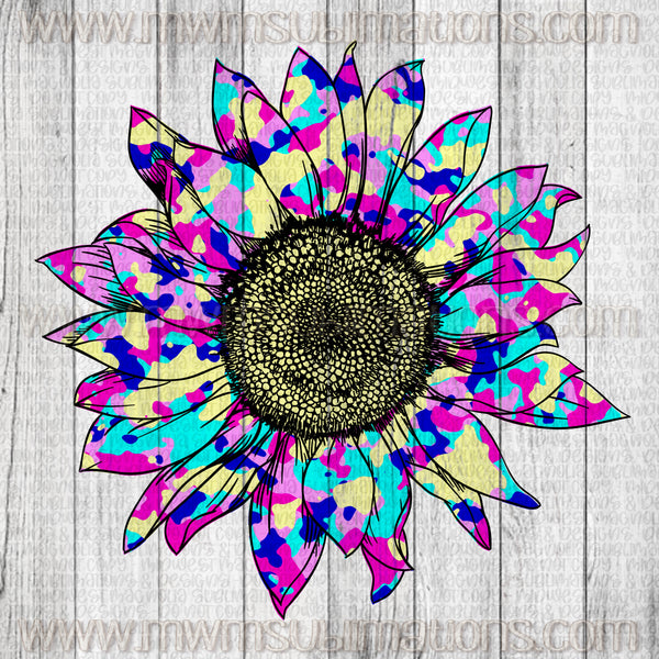 Paint Splatter Sunflower Version 2 - Sublimation Transfer
