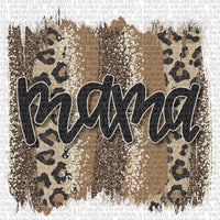 Mama Leopard Brushstroke - Sublimation Transfer - Midwest Magnolia Sublimations & Designs