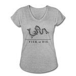 Fish, or Die - Women's V-Neck - heather gray