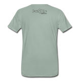 Fly Fishing Saves Lives - Premium T-Shirt - steel green