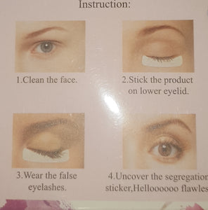 Undereye pads for Tinting