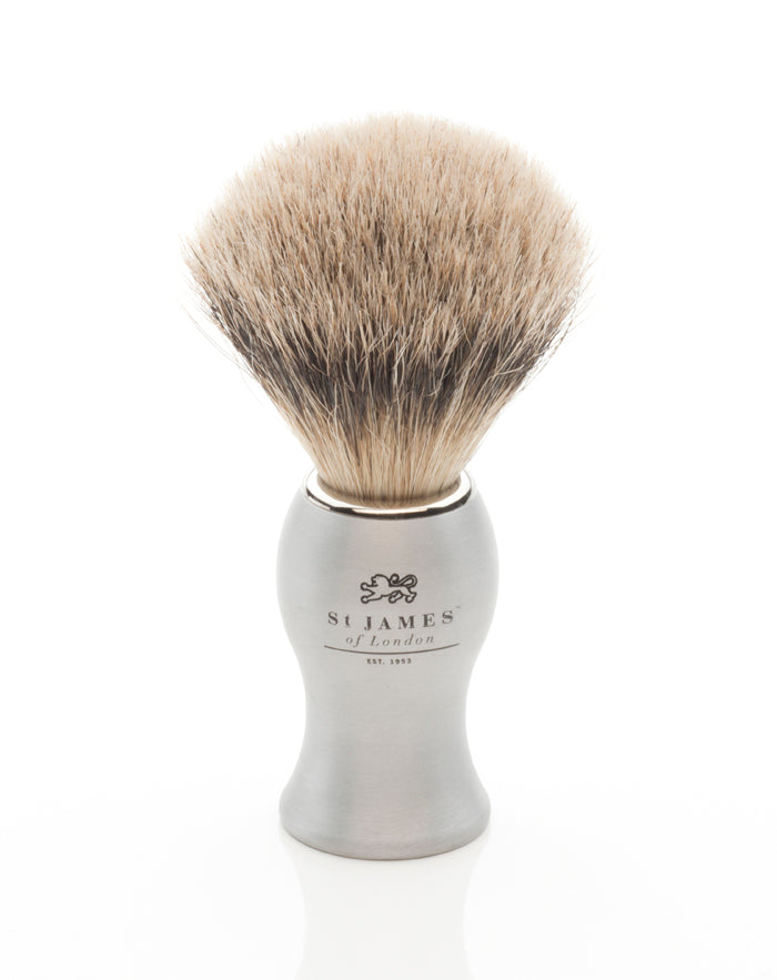 Cheeky Brushed Metal Super Badger (6124395790534)