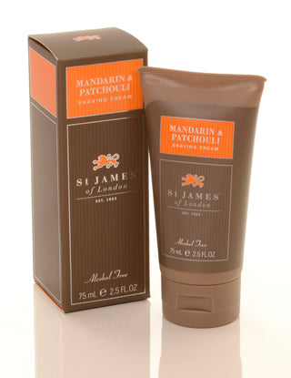 Mandarin & Patchouli Shave Cream Travel Tube (4434961104950)