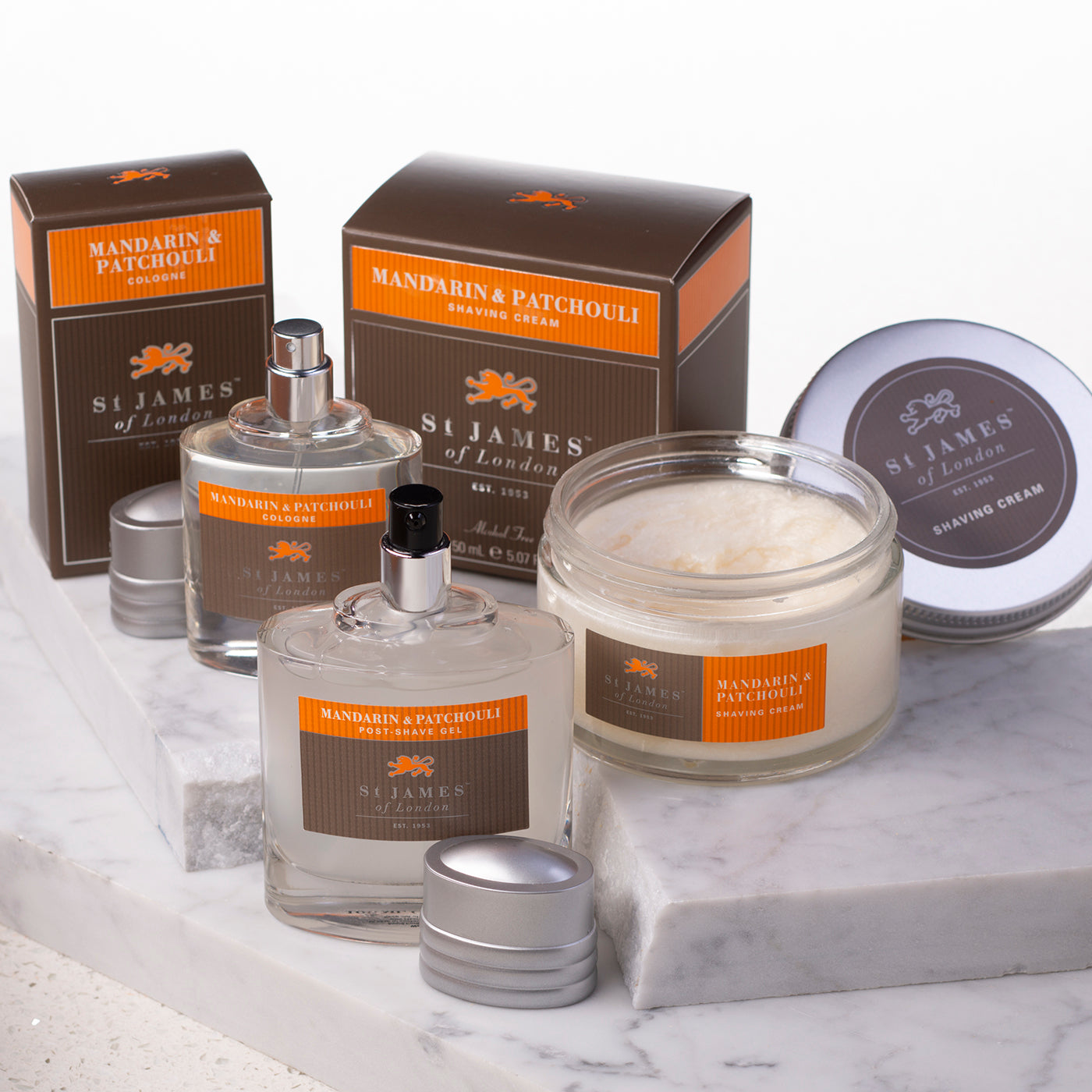 Mandarin and Patchouli - Shaving Gift Set (4578450341942)