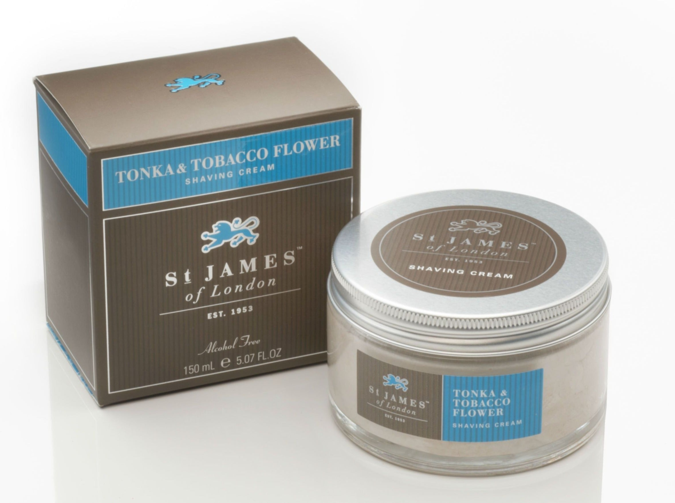 Tonka & Tabacco Flower Shave Cream Jar (4435859537974)