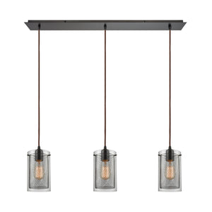Brant 3 Light Pendant In Oil Rubbed Bronze