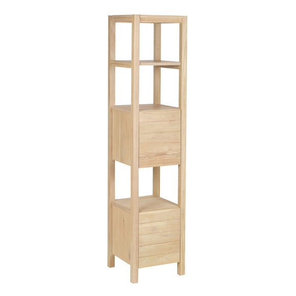 Elegance Rack Tower In Natural Wood Tone