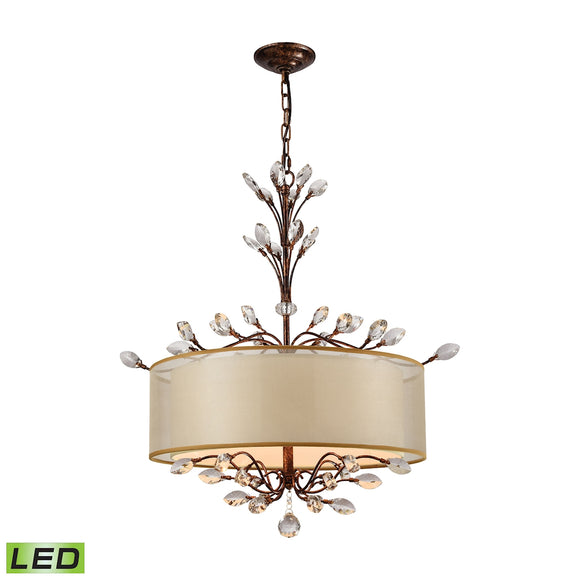 Asbury 4 Light LED LED Chandelier In Spanish Bronze