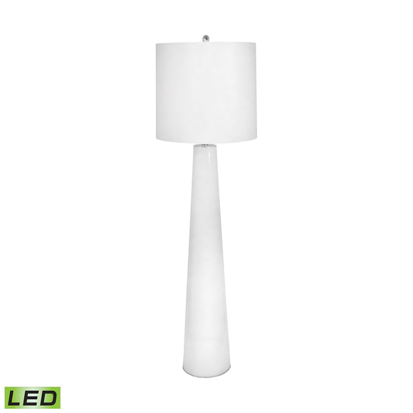 White Obelisk LED Floor Lamp With Night Light