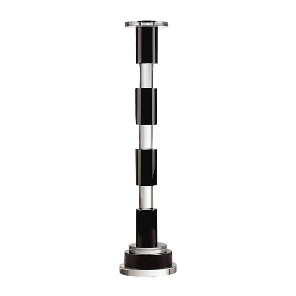 Black And Clear Crystal Rod Candleholder