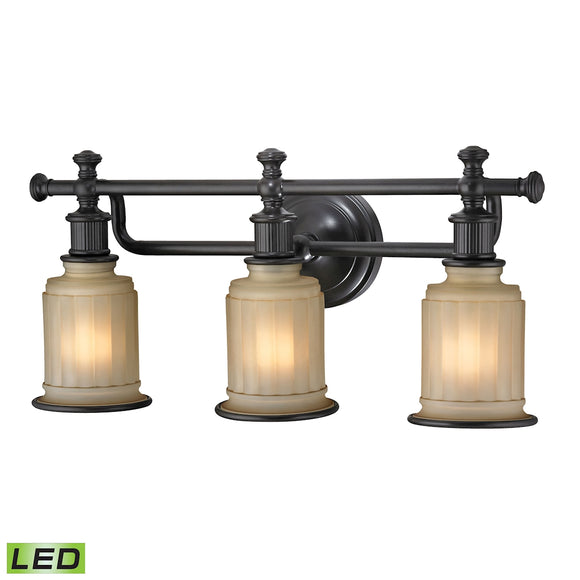 Acadia 3 Light LED Vanity In Oil Rubbed Bronze