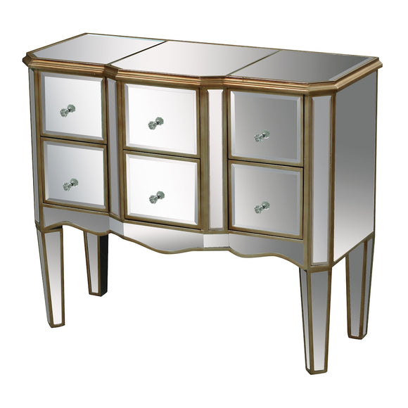 Antwerp Chest In Clear Mirror And Antique Gold