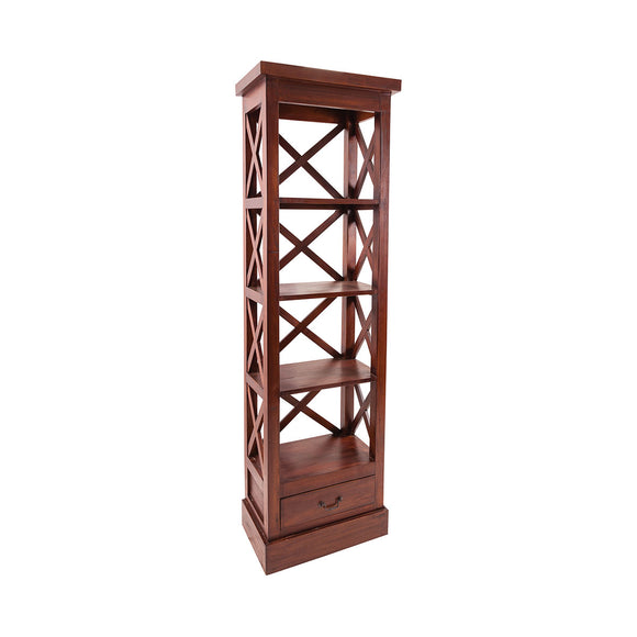 Galloway Shelves In Mahogany Stain Finish