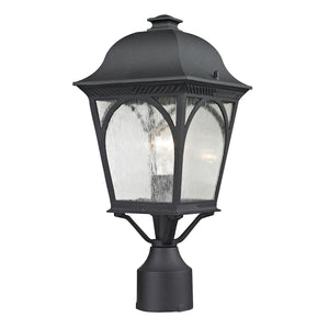 Cape Ann 1 Light Outdoor Pendant In Matte Textured Black