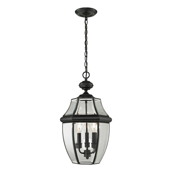 Ashford 3 Light Outdoor Pendant In Black