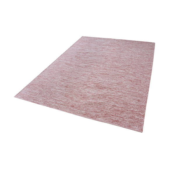 Alena Handmade Cotton Rug In Marsala And White - 3ft x 5ft