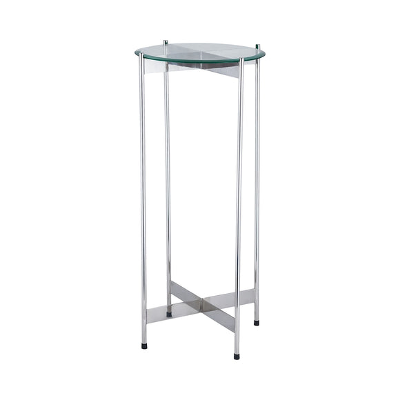 1 Wall Street Chrome Accent Table