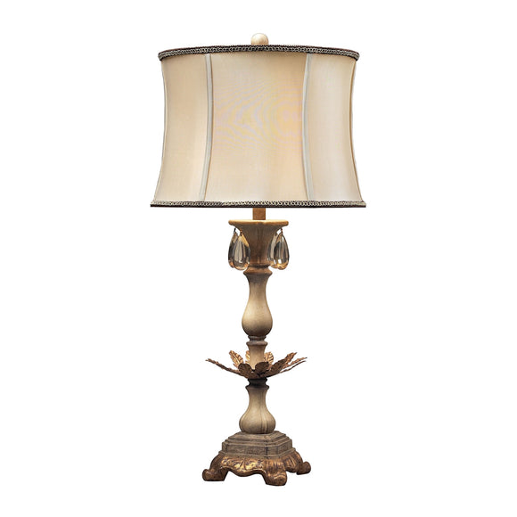 ACCENT LAMP IN CREAM AND SOFT GOLD