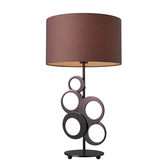ADDISON 1-LIGHT TABLE LAMP CHOCOLATE PLATED FINISH