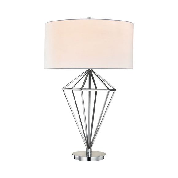 Adele 1 Light Table Lamp In Polished Nickel