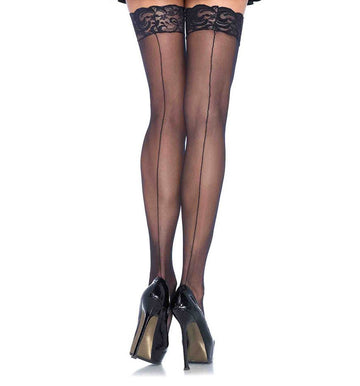 1101 Sheer Stockings With Backseam
