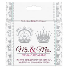 Mr. & Mrs Trivia Card Game