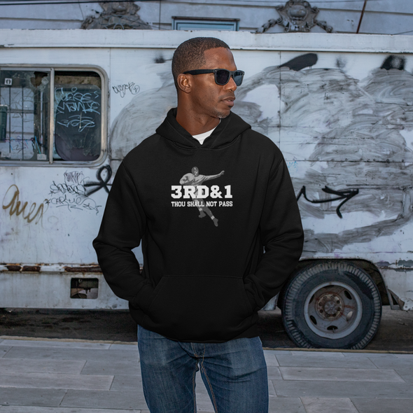Football Hoodies - Gridiron Icon - 3rd and One Thou Shall Not Pass