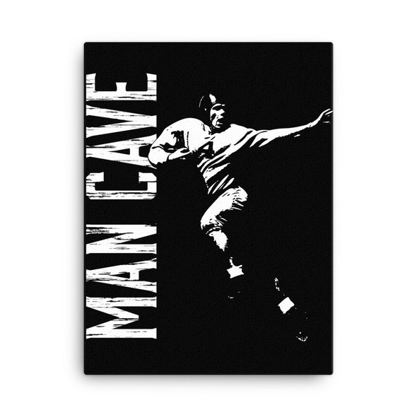 Man Cave Gridiron Icon Canvas