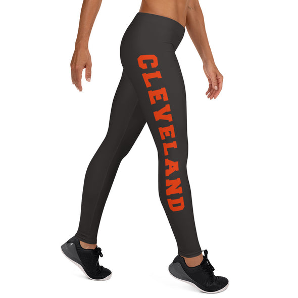 Cleveland Football Women's Leggings; Browns; Dawg Pound Leggings