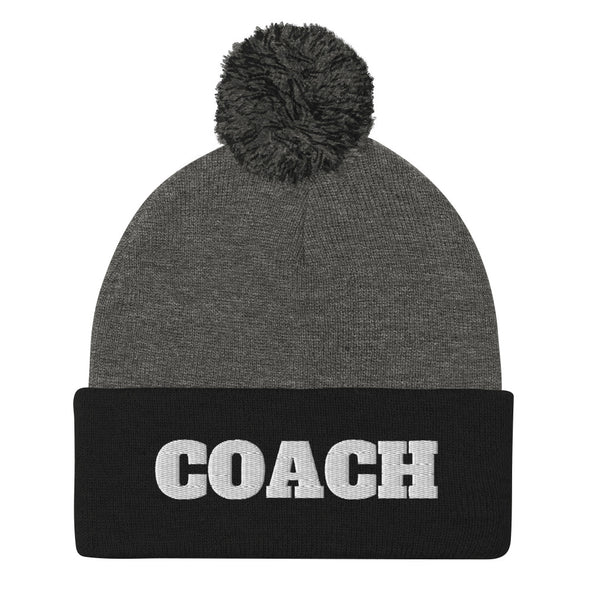 Football Coach Pom-Pom Beanie