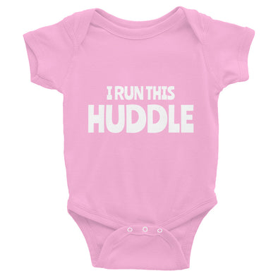 I Run This Huddle Onesie