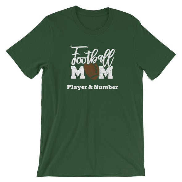 Custom Football Mom Shirt You Create; Add Your Player's Name and Number!